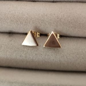 Vale Triangle Stud Earrings (pair)